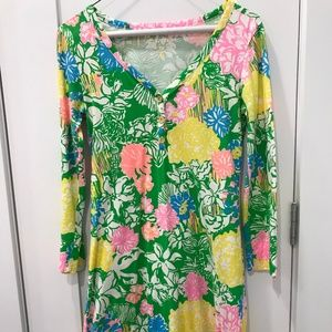 Lilly Pulitzer Hibiscus Stroll Palmetto Dress XS